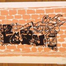 Arte: CARLOS LLEDÓ MORENO. SERIGRAFÍA SANTA CLAUS. 35X25 CM. FIRMADA A MANO. NUMERADA 14/100. 1994.. Lote 151363942
