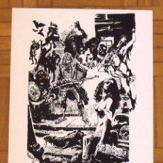 Arte: JESÚS MORA ALFONSO. SERIGRAFÍA IMAGINEERS. 35X25 CM. FIRMADA A MANO. NUMERADA 14/100. 1994.. Lote 151364154