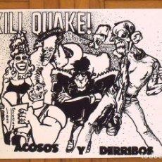 Arte: GABRIEL NÚÑEZ MORALES. SERIGRAFÍA KILL QUAKE. 35X25 CM. FIRMADA A MANO. NUMERADA 14/100. 1994.. Lote 151364382
