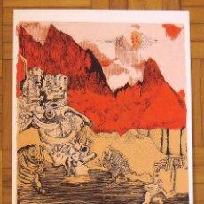 Arte: TONI RODRÍGUEZ NAVARRO. SERIGRAFÍA DINOSAURIOS. 35X25 CM. FIRMADA A MANO. NUMERADA 14/100. 1994.. Lote 151365166