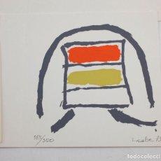 Arte: INVITACIÓN HANS LAABS, GALERÍA CARL VAN DER VOORT CON SERIGRAFÍA ORIGINAL, 1973, IBIZA. 15X15CM. Lote 151381910