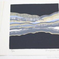Arte: INVITACIÓN ROBERT QUIJADA, GALERIA CARL VAN DER VOORT CON SERIGRAFÍA ORIGINAL, 1973, IBIZA. 15X15CM. Lote 151382542