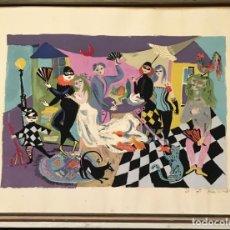 Arte: OBRA GRÁFICA FIRMADA A MANO POR BELE BACHEM (DÜSSELDORF, ALEMANIA 1916 - MUNICH 2005) 26 / 75. Lote 151553386