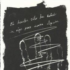 Arte: MANUEL PRIETO. LA MANO. FIRMADA A MANO. NUMERADA 27/60. 26X18 CM. 1994. PAPEL GUARRO DE CALIDAD.. Lote 151633486