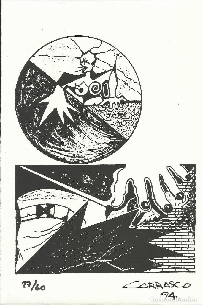MARÍA JOSÉ CARRASCO. LA MANO. FIRMADA A MANO. NUMERADA 27/60. 26X18 CM. 1994. PAPEL GUARRO. (Arte - Serigrafías )