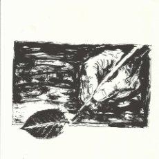 Art: MARIANO CABELLOS. LA MANO. FIRMADA A MANO. NUMERADA 27/60. 26X18 CM. 1994. PAPEL GUARRO DE CALIDAD.. Lote 151633810