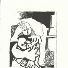 Arte: SERGIO LANIADO. LA FAMILIA. FIRMADA A MANO. NUMERADA 27/60. 26X18 CM. 1994. PAPEL GUARRO DE CALIDAD. Lote 151634202