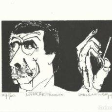 Arte: JOAN ALONSO. AUTORRETRACTO. FIRMADA A MANO. NUMERADA 27/60. 18X26 CM. 1994. PAPEL GUARRO DE CALIDAD. Lote 151634574