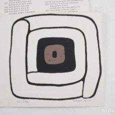 Arte: INVITACIÓN CONRAD MARCA - RELLI, GALERÍA CARL VAN DER VOORT, CON SERIGRAFÍA ORIGINAL, 1972, IBIZA.. Lote 151707530