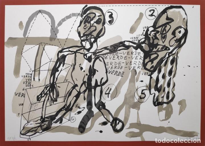 Arte: Antonio Segui - serigrafía 49x68 cm firmada lápiz y numerada - Foto 4 - 152171486