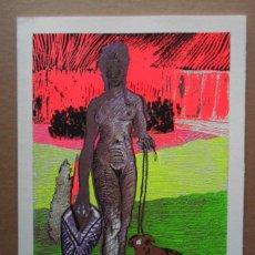 Arte: CARLOS FRANCO (MADRID 1951) SERIGRAFIA 29X21 PAPEL 25X33 FIRMA LAPIZ N /100 BRASIL EMILIANO PERNETA. Lote 152435310