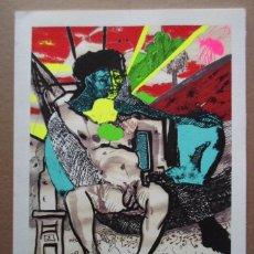 Arte: CARLOS FRANCO (MADRID 1951) SERIGRAFIA 29X21 PAPEL 25X33 FIRMA LAPIZ N /100 BRASIL MARIO QUINTANA. Lote 152435418