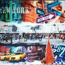 Arte: BONITO CUADRO DE OBRA - POP ART - NEW YORK - SERIGRAFIA EN LIENZO SOBRE BASTIDOR- TAMAÑO 60X60 . Lote 153132798