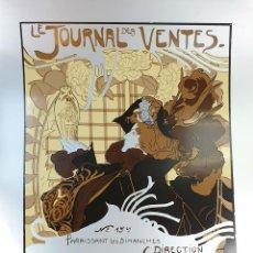 Arte: LE JOURNAL. SERIGRAFÍA MANUAL. FIRMADO DE FEURE. EDIT. IMPACT. FRANCIA. SIGLO XX.. Lote 153177022