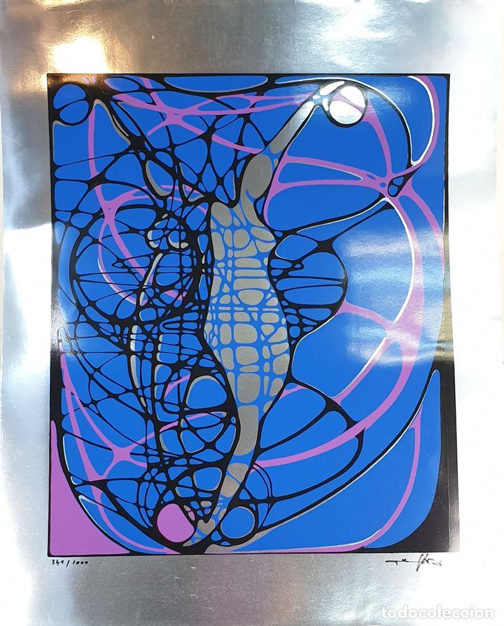 REFLET. SERIGRAFÍA MANUAL A COLOR. LE RABO. EDIT. IMPACT. FRANCIA. 1974 (Arte - Serigrafías )
