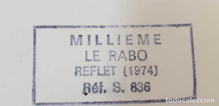 Arte: REFLET. SERIGRAFÍA MANUAL A COLOR. LE RABO. EDIT. IMPACT. FRANCIA. 1974 - Foto 8 - 153322378
