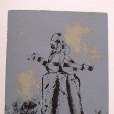 Arte: MIGUEL ÁNGEL COLLAZOS. SERIGRAFÍA FIGURA. NUMERADA 44/60. FIRMADA A MANO. 1991. PAPEL GUARRO.. Lote 153334890