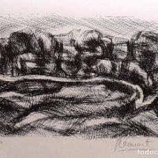 Arte: ANTONI LLEONART. PAISAJE. NUMERADA 44/60. FIRMADA A MANO. 1991. 25X36 CM. PAPEL GUARRO.. Lote 153335466