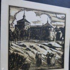 Arte: VILLAVICIOSA DE ODON MADRID SERIGRAFIA AÑOS 20 POR J. LOYGORRI 15,5 X 19 CMTS. Lote 154553206