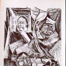 Arte: ROBERTO VIVES SAURI. MÀSCARES. MÁSCARAS. SERIGRAFÍA FIRMADA A MANO Y NUMERADA 81/180. 1998.. Lote 156298662