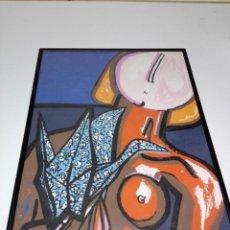 Arte: SERIGRAFÍA-MARCO-FIRMADA:XAVIER MAGALHAËS-MUY BUEN ESTADO-VER FOTOS Y MEDIDAS. Lote 156374482
