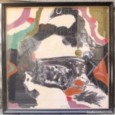 Arte: MODEST CUIXART, PAÑUELO, 1982, SERIGRAFÍA SOBRE SEDA, FIRMADO Y ENMARCADO. 75,5X75,5CM. Lote 157226862