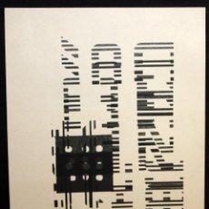 Arte: ANTONI MUNTADAS - SERIGRAFIA - COMPOSICIÓN - ARTE MEDIATICO Y CONCEPTUAL.. Lote 157697602