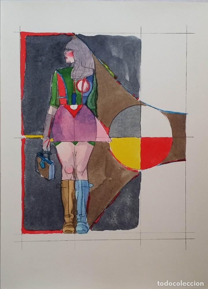 RICHARD LINDNER: SUPER GIRL, SERIGRAFÍA DE 1968 (Arte - Serigrafías )