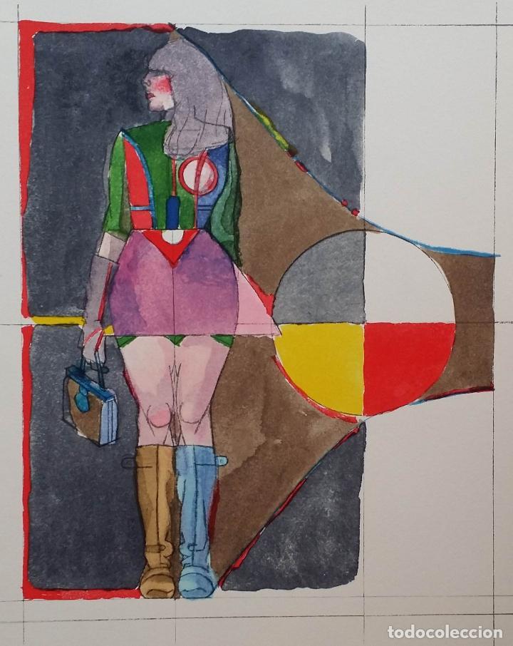 Arte: Richard Lindner: Super Girl, serigrafía de 1968 - Foto 3 - 158023806