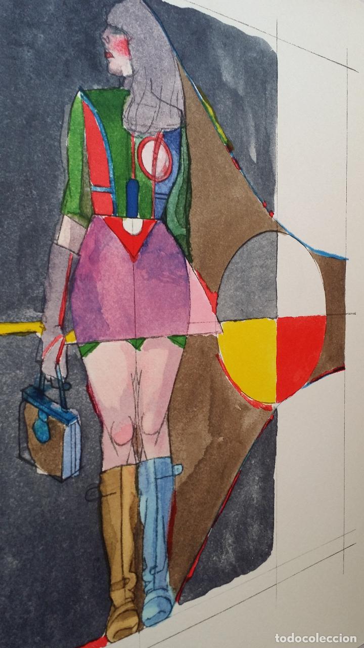 Arte: Richard Lindner: Super Girl, serigrafía de 1968 - Foto 10 - 158023806