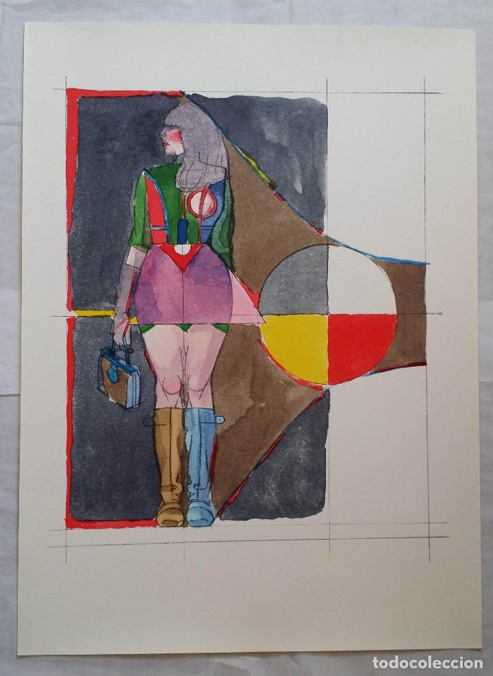 Arte: Richard Lindner: Super Girl, serigrafía de 1968 - Foto 2 - 158023806