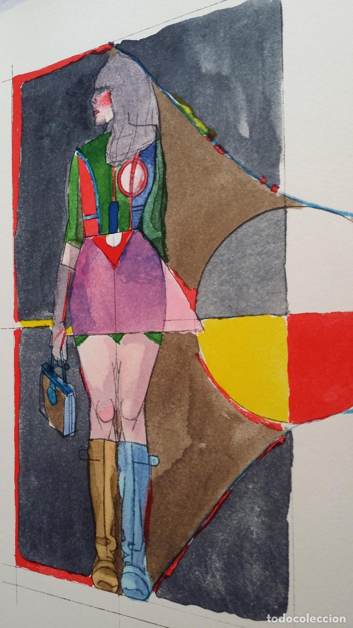 Arte: Richard Lindner: Super Girl, serigrafía de 1968 - Foto 11 - 158023806