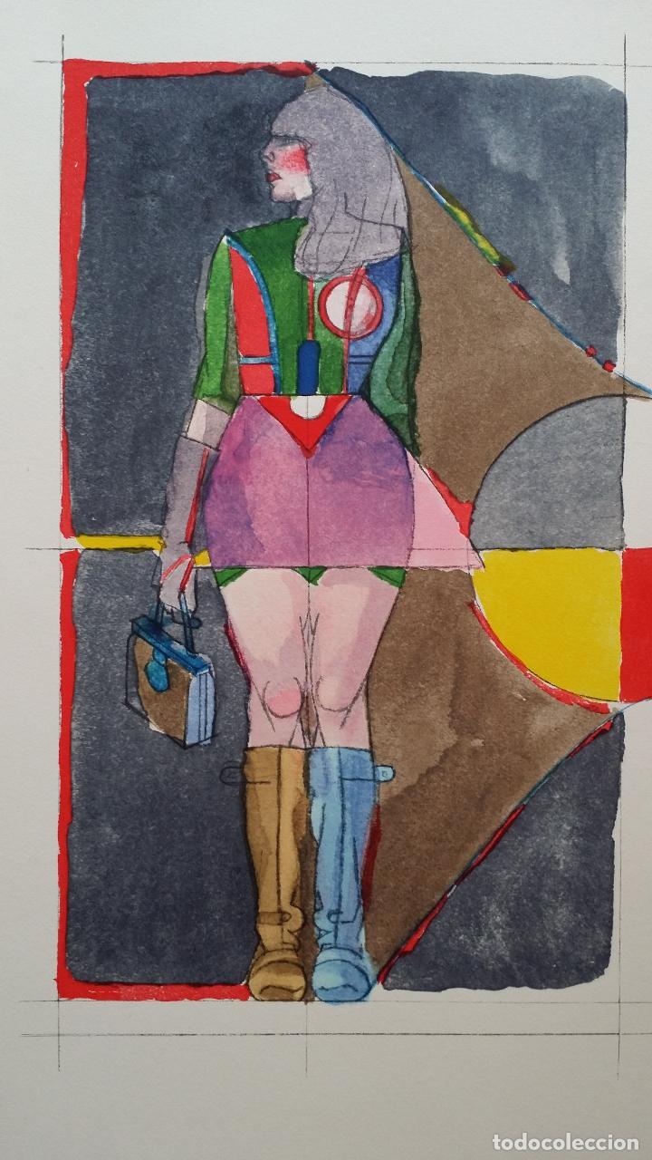 Arte: Richard Lindner: Super Girl, serigrafía de 1968 - Foto 4 - 158023806