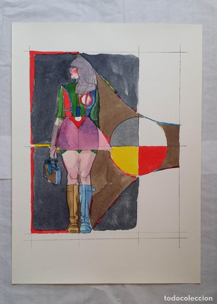 Arte: Richard Lindner: Super Girl, serigrafía de 1968 - Foto 13 - 158023806