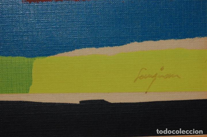 Arte: Sanjuan. Serigrafía de 35 x 44 bien enmarcada en 59 x 64. Composición 80. Certificada. Ejem 21/25. - Foto 8 - 159997722