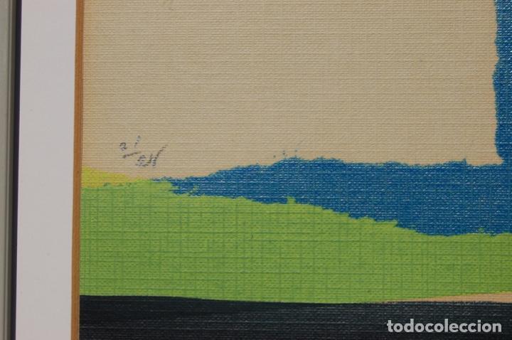 Arte: Sanjuan. Serigrafía de 35 x 44 bien enmarcada en 59 x 64. Composición 80. Certificada. Ejem 21/25. - Foto 9 - 159997722