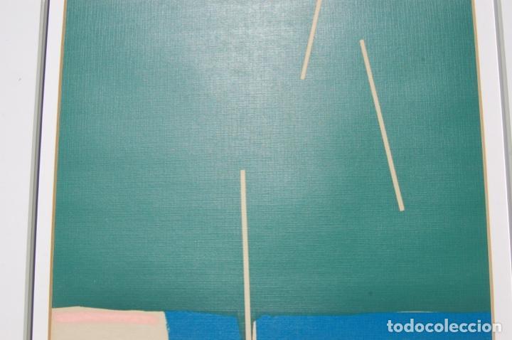 Arte: Sanjuan. Serigrafía de 35 x 44 bien enmarcada en 59 x 64. Composición 80. Certificada. Ejem 21/25. - Foto 10 - 159997722