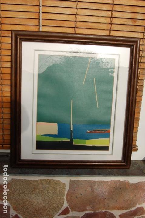 Arte: Sanjuan. Serigrafía de 35 x 44 bien enmarcada en 59 x 64. Composición 80. Certificada. Ejem 21/25. - Foto 18 - 159997722