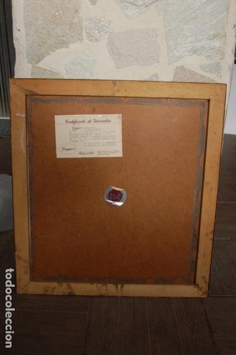 Arte: Sanjuan. Serigrafía de 35 x 44 bien enmarcada en 59 x 64. Composición 80. Certificada. Ejem 21/25. - Foto 19 - 159997722