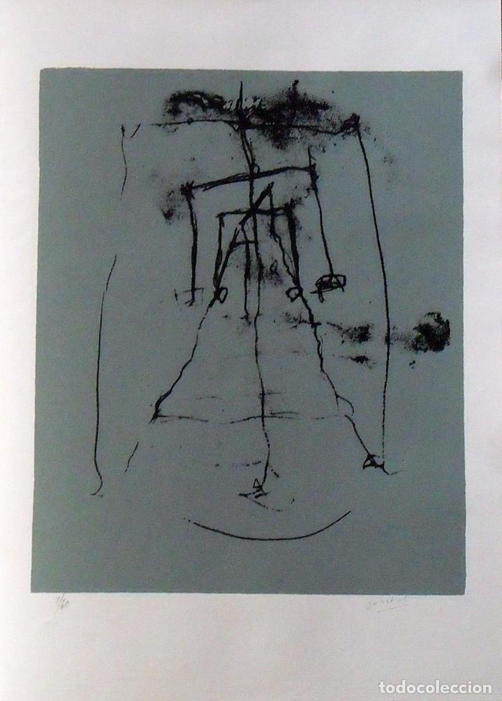 HUGO SOLSCHAK. SERIGRAFÍA ABSTRACCIÓN. NUMERADA 11/60. FIRMADA A MANO. 1991. 36X25 CM. PAPEL GUARRO. (Arte - Serigrafías )