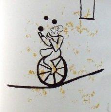 Arte: MAGDA ROVIRA. SERIGRAFÍA EL FUNAMBULISTA. NUMERADA 11/60. FIRMADA A MANO. 1991. 36X25 CM. . Lote 160414398