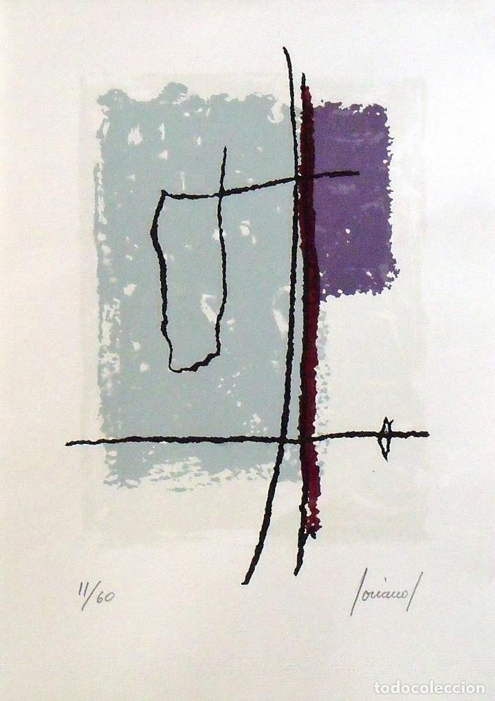 CARLOS SORIANO. SERIGRAFÍA COMPOSICIÓN. NUMERADA 11/60. FIRMADA A MANO. 1991. 36X25 CM. PAPEL GUARRO (Arte - Serigrafías )