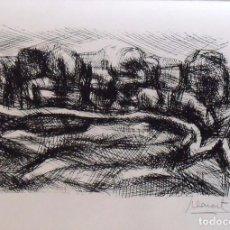 Arte: ANTONI LLEONART. PAISAJE. SERIGRAFÍA NUMERADA 11/60. FIRMADA A MANO. 1991. 25X36 CM. PAPEL GUARRO.. Lote 160414926