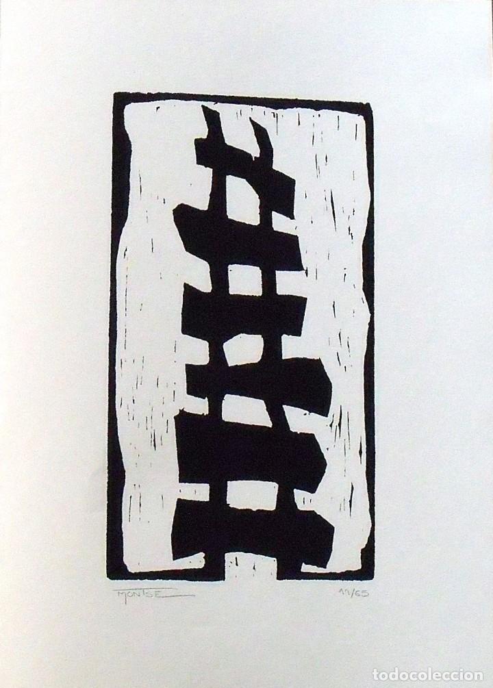 MONTSE GASULL. SERIGRAFÍA ABSTRACCIÓN. NUMERADA 11/60 FIRMADA A MANO. 1991. 36X25 CM. PAPEL GUARRO. (Arte - Serigrafías )