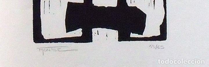 Arte: Montse Gasull. Serigrafía Abstracción. Numerada 11/60 Firmada a mano. 1991. 36x25 cm. Papel Guarro. - Foto 2 - 160415210