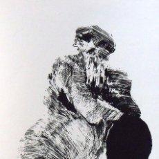 Arte: JOAN ALONSO. SERIGRAFÍA GAIREBÉ NUA. CASI DESNUDA. NUMERADA 11/60. FIRMADA A MANO. 1991. 36X25 CM.. Lote 160415550