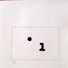 Arte: SERIGRAFÍA POEMA VISUAL. I SIN PUNTO. NUMERADA I/V. 38X31 CM. BUEN ESTADO. PAPEL GUARRO. . Lote 160732414