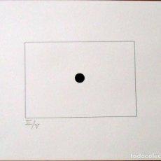 Arte: SERIGRAFÍA POEMA VISUAL. PUNTO NEGRO. NUMERADA II/V. 31X38 CM. BUEN ESTADO. PAPEL GUARRO. . Lote 160733070