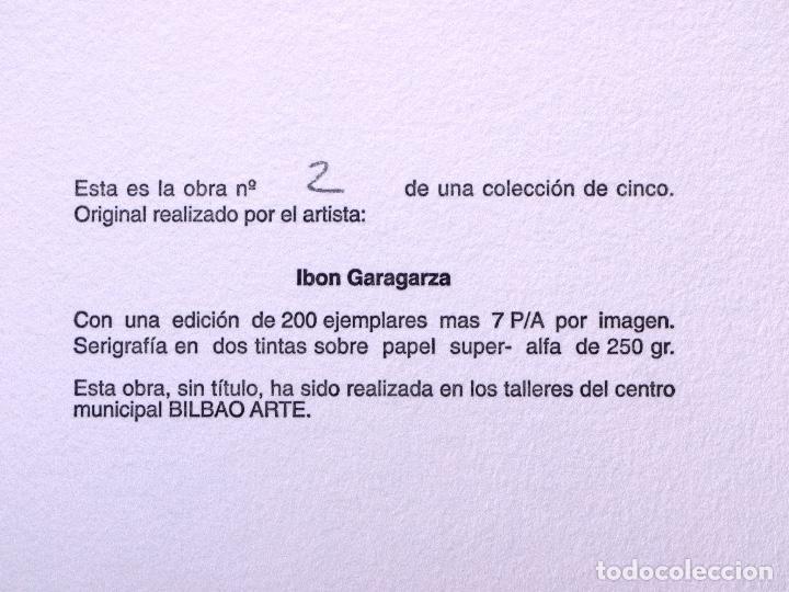 Arte: SERIGRAFÍA DE IBON GARAGARZA. BILBAO ARTE - Foto 4 - 160802762
