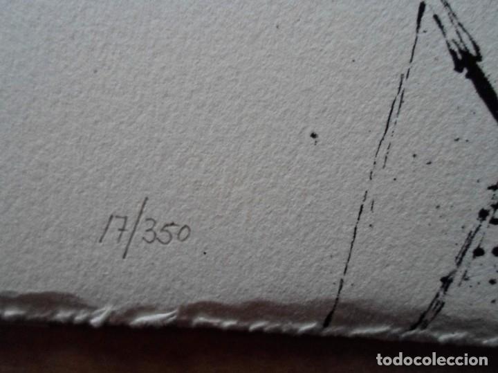 Arte: Manuel Rivera (Granada, 1927-Madrid, 1995) serigrafía 1980 de 32x49cms, firmada lápiz y num 17/350 - Foto 3 - 122153915